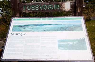 Fossvogur sign
